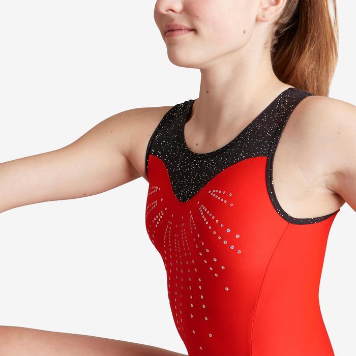 Maillot sin mangas rojo y negro 540 SM de gimnasia artística femenina