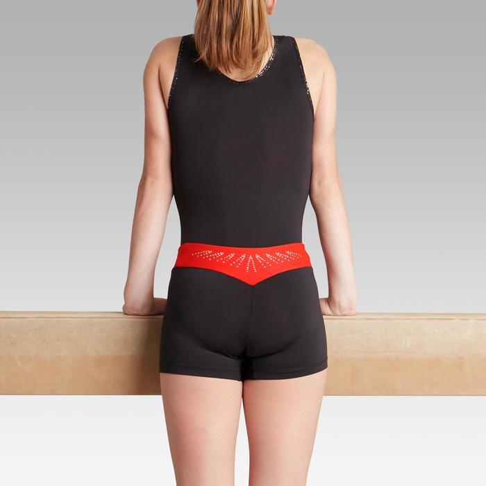 Short rouge 500 gymnastique artistique féminine
