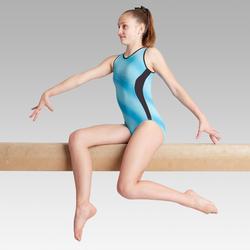 Justaucorps sans manche vert 500 Gymnastique Artistique Féminine