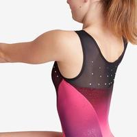 900 Women's Artistic Gymnastics Sleeveless Leotard - Pink