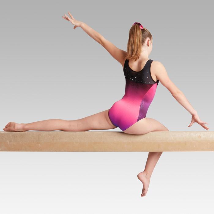 Gymnastikanzug Turnanzug ärmellos 900 rosa