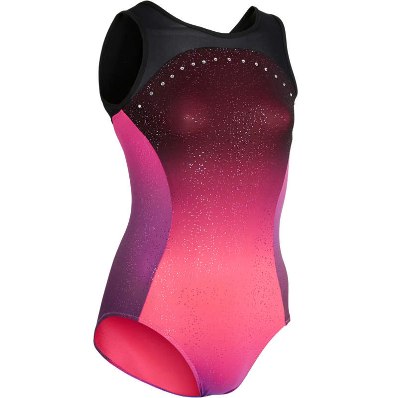 WOMEN ARTISTIC GYM APPAREL, HAND GRIP Gymnastics - 900 Sleeveless Leotard - Pink DOMYOS - Gymnastics