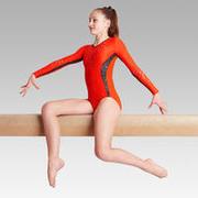 500 Artistic Gymnastics Long-Sleeved Leotard - Red