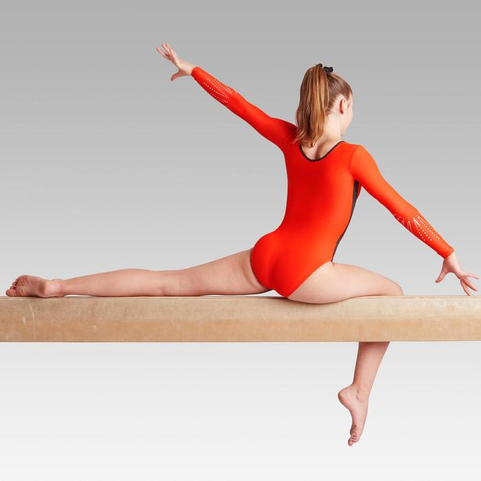Gymnastikanzug Turnanzug langarm 500 rot