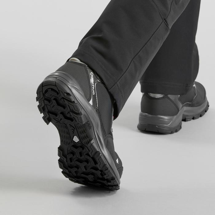 Chaussures de randonnée neige femme SH520 x-warm mid noir