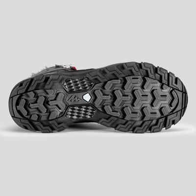 ស្បែកជើងស្ត្រីសម្រាប់ដើរលើទឹកកក SH520 X-Warm - ពណ៌ខ្មៅ