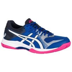 Zapatillas de bádminton y squash ASICS GEL ROCKET 9 mujer azul y rosa