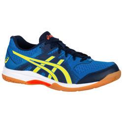 Zapatillas de bádminton y squash Asics Gel Rocket 9 hombre azul y amarillo