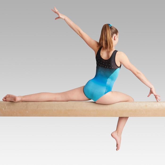 Mouwloos turnpakje 900 voor artistieke gymnastiek damesmodel roze