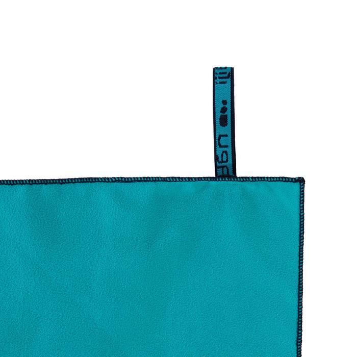 Microvezel handdoek blauw maat S 42 x 55 cm