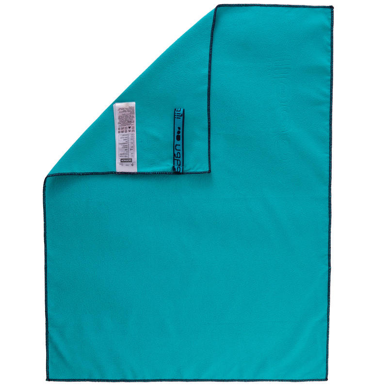 Swimming Microfibre Towel Size S 42 x 55 cm - Blue