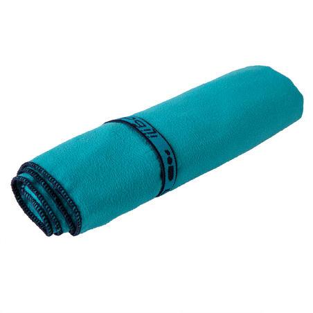 Swimming Microfibre Towel Size S 42 x 55 cm - Blue