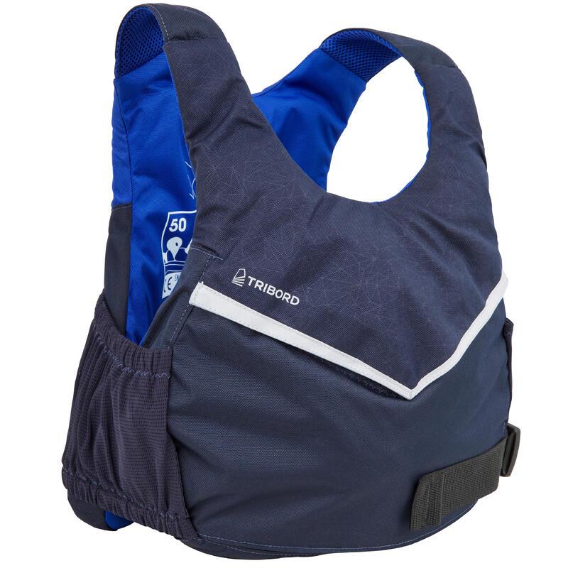Dinghy sailing buoyancy aid vest 500 BA 50 newtons - dark blue