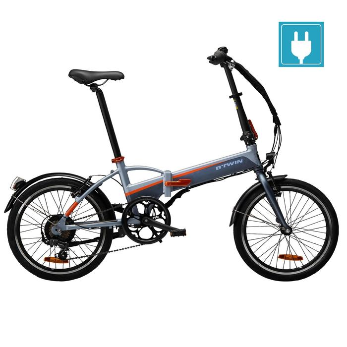 VELO PLIANT A ASSISTANCE ELECTRIQUE TILT 500 GRIS ORANGE