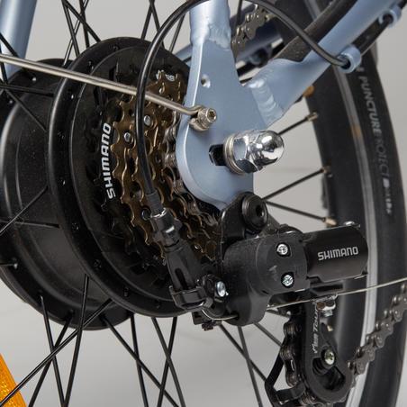 Electric Assistance Folding Bike Tilt 500 - Grey/Orange