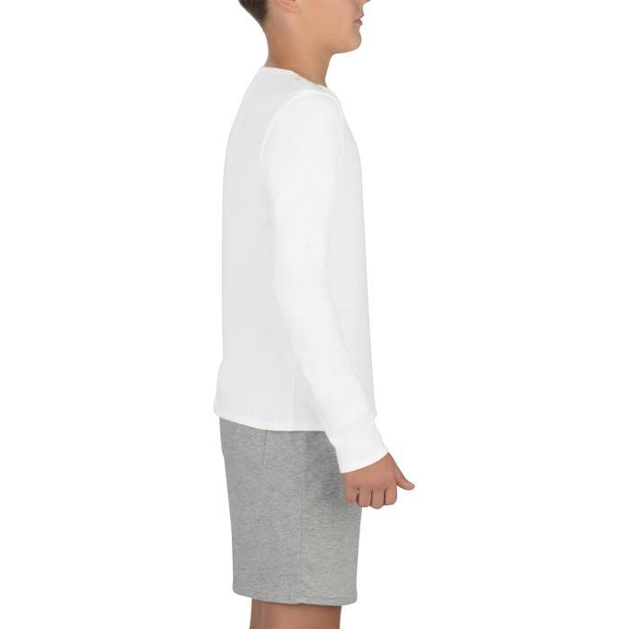 T-Shirt manches longues 100 fille GYM ENFANT blanc