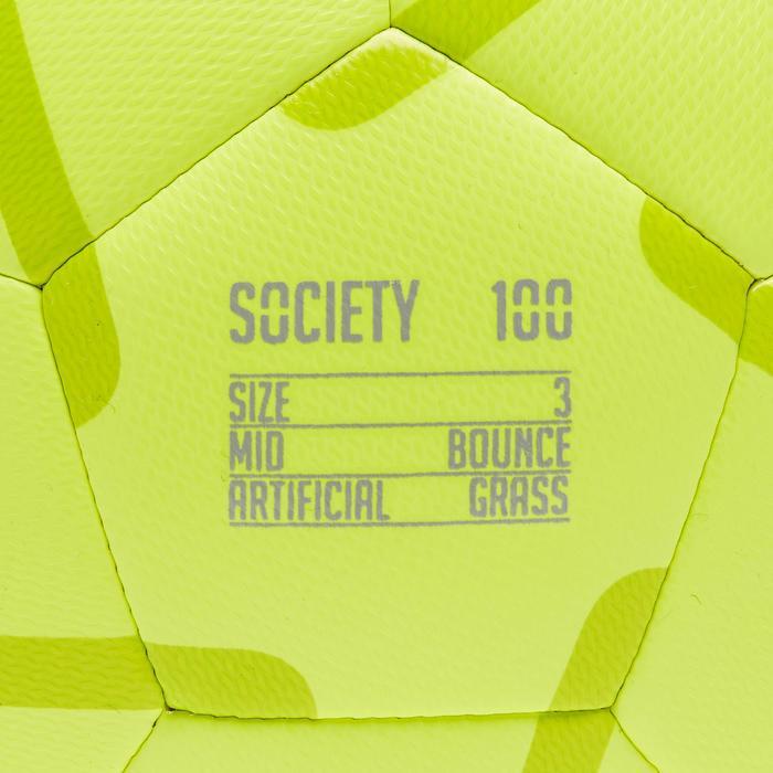 Balón de Fútbol 5 Júnior Society 100 talla 3 Amarillo / Verde