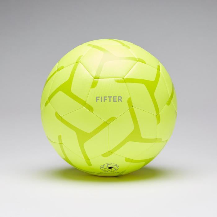 Voetbal voor 5 a side voor kinderen Society 100 maat 3 geel/groen