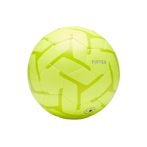ballon de foot a 5 junior society 100 taille 3 jaune / vert