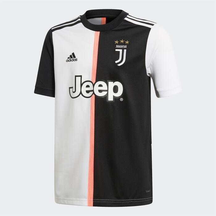 Maillot football enfant Juventus de Turin domicile blanc et noir 19/20