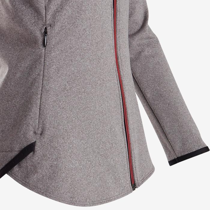 Veste chaude, respirante S900 fille GYM ENFANT grise, empiècements noirs