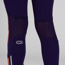 Collant Athlétisme fille Kiprun violet corail fluo