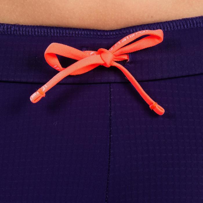 Atletiekbroek voor meisjes Kiprun paars/fluorood