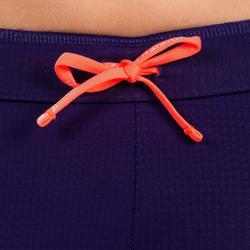 Laufhose Kiprun Leichtathletik Mädchen violett/neonorange
