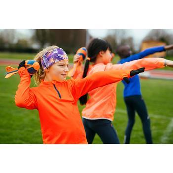 Atletiekshirt met lange mouwen voor kinderen Essential oranje