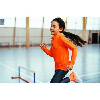 Maillot manches longues Athlétisme Enfant essentiel orange