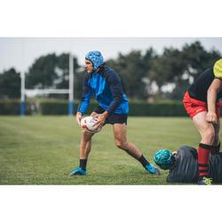 Rugbysocken R500 Mid Silikon rutschfest Erwachsene
