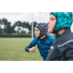 Casco de rugby 500 júnior negro/gris