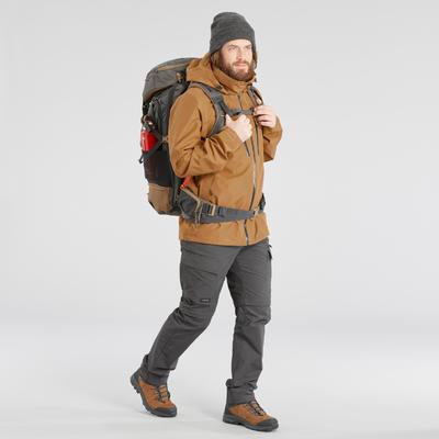 Sac à dos 50 litres de trek voyage - TRAVEL 500 gris homme