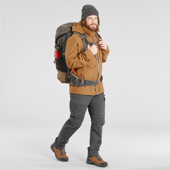 Backpacking Rucksack TRAVEL 500 50 Liter abschließbar Herren grau