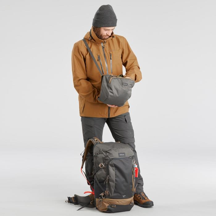 Veste 3en1 imperméable confort -10°C de trek voyage - TRAVEL 500 camel homme