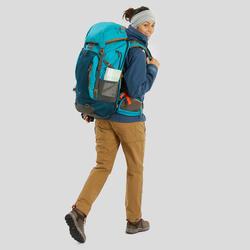 Pantalón Desmontable de Montaña y Trekking Viaje Travel 500 Mujer Camel