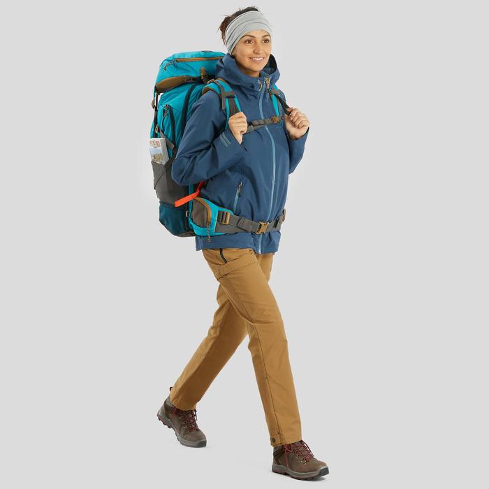 Cinta de Trekking montaña TREK 500 multiposición lana merina gris