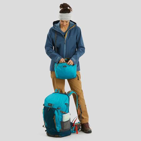 Women's 3-In-1 Waterproof Comfort -8°C Travel Trekking Jacket - TRAVEL 500 - blu