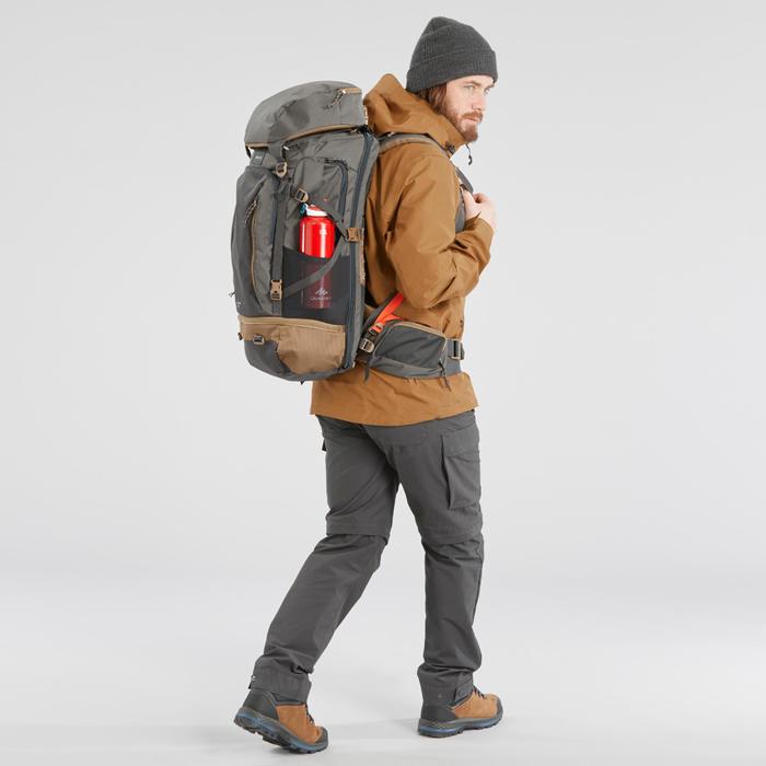 Pantalón Desmontable de Montaña y Trekking Viaje Forclaz Travel500 Hombre Gris