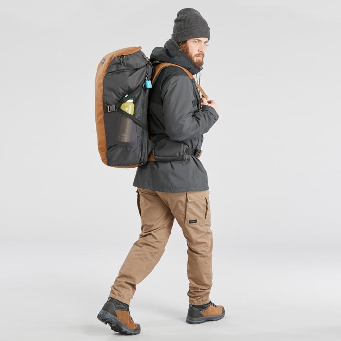Pantalón de Montaña y Trekking Forclaz Travel 100 Hombre Marrón