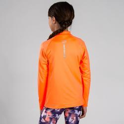 Camiseta manga larga Atletismo Júnior essentiel naranja