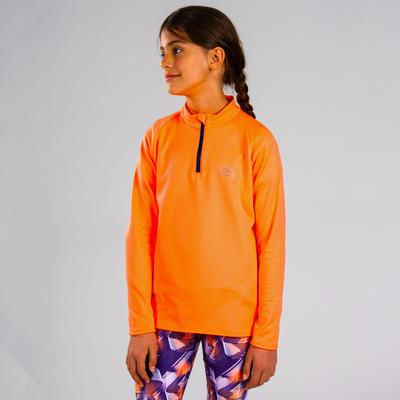 Дитяча футболка Essential для легкої атлетики з довгим рукавом - Помаранчева