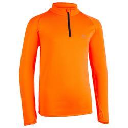 Hardloopshirt lange mouwen voor kinderen oranje
