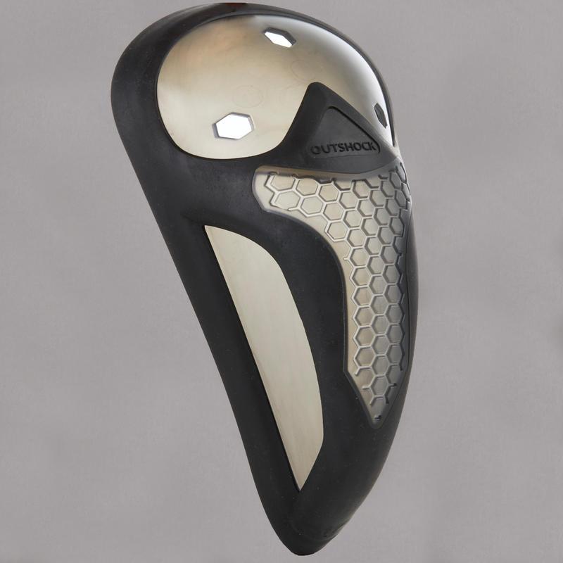 Men's Combat Sports Flexible Groin Guard 500 - Black