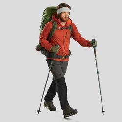 Broek voor bergtrekking heren Trek 500 afritsbaar donkergrijs