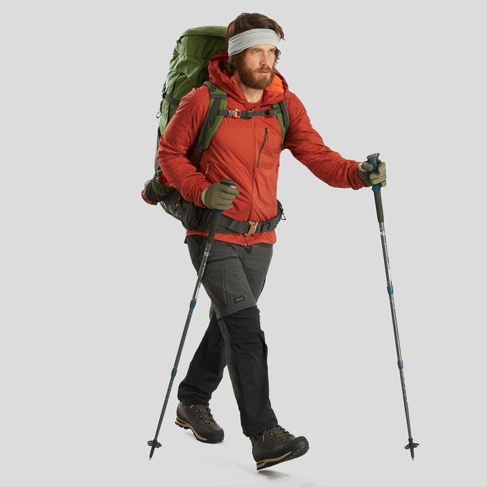 Multifunctionele nekwarmer voor bergtrekking Trek 500 merinowol grijs