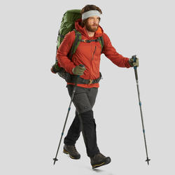 Men's dark grey TREK 500 mountain trekking convertible trousers