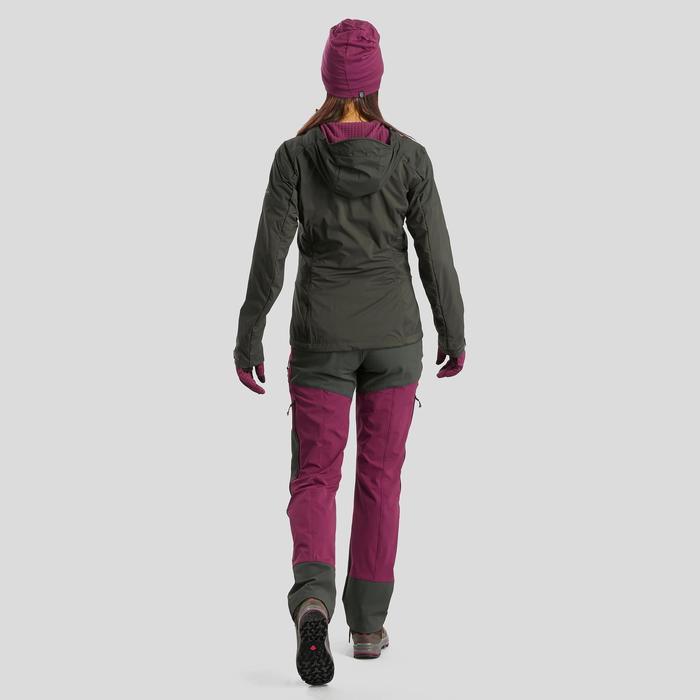 登山健行美麗諾羊毛帽TREK 500-紫色