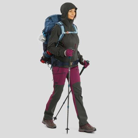 Sarung Tangan Mendaki Gunung Dewasa TREK 500 - Ungu