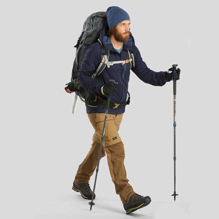 Trekkingmuts Trek 500 merinowol blauw